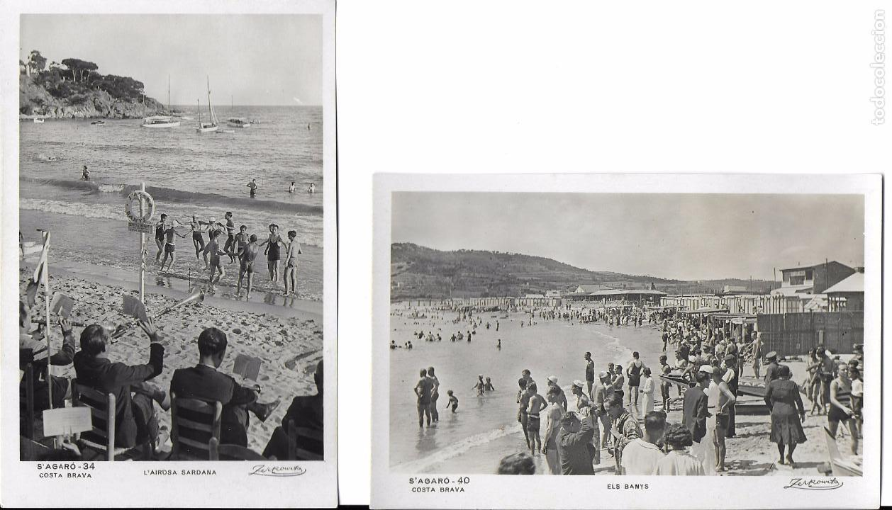 P- 7275. PAREJA POSTALES S' AGARO, 40 Y 34. ZERKOWITZ. (Postales - España - Cataluña Antigua (hasta 1939))