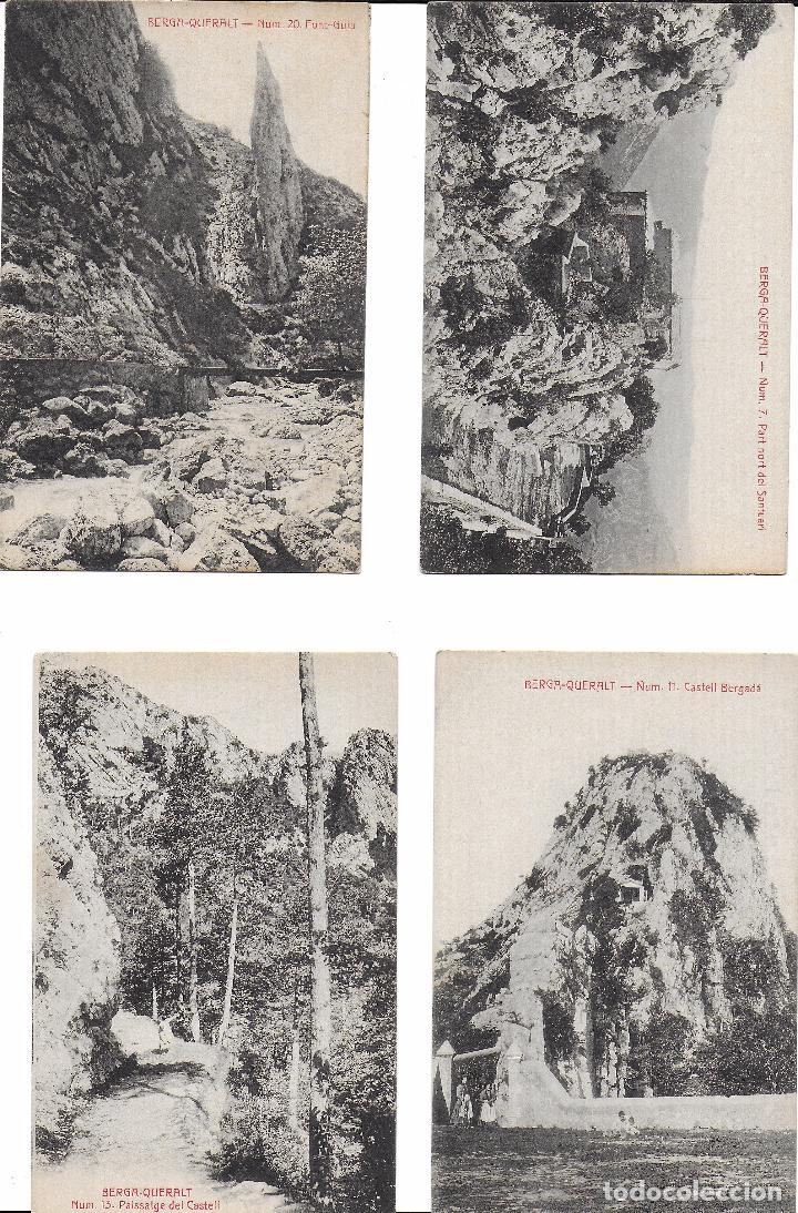 P- 7294. LOTE 4 POSTALES BERGA, QUERALT. 7, 11, 13 Y 20. (Postales - España - Cataluña Antigua (hasta 1939))