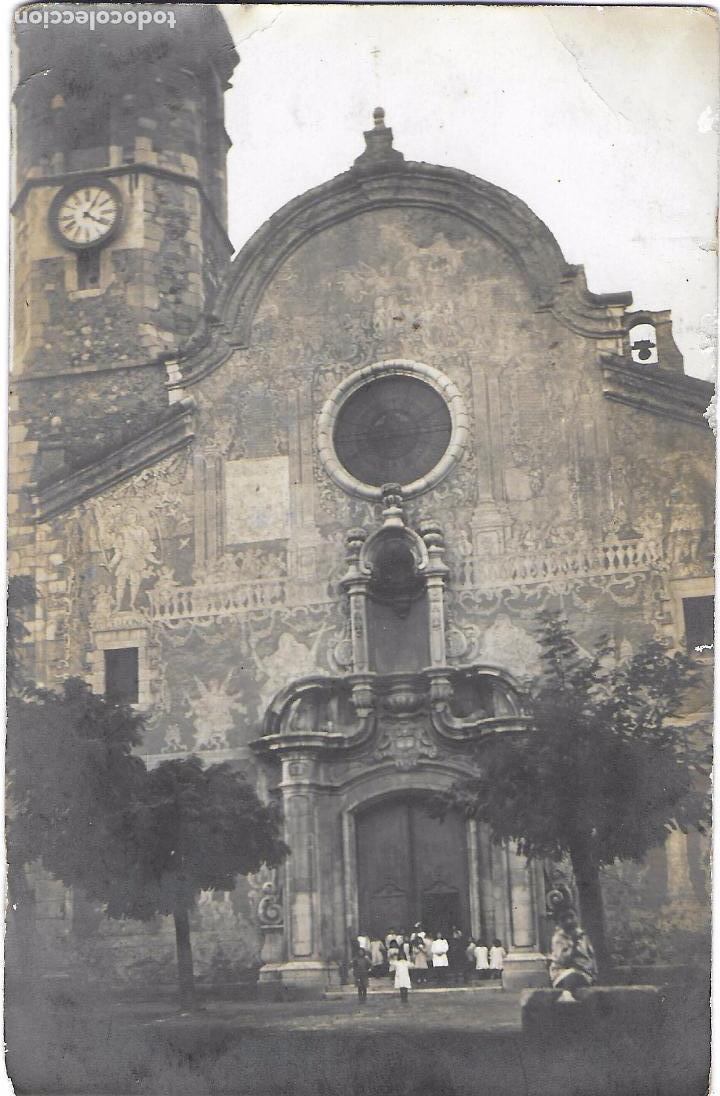 P- 7295. POSTAL FOTOGRAFICA, ESGLESIA DE SANT CELONI. (Postales - España - Cataluña Antigua (hasta 1939))