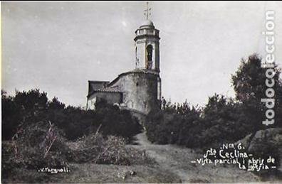 P- 7359. POSTAL STA. CECLINA, VISTA PARCIAL I ABSIS DE LA IGLESIA. FARGNOLI Nº6. (Postales - España - Cataluña Antigua (hasta 1939))