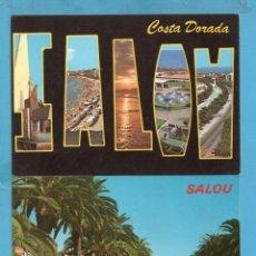 Postales: CINCO POSTALES DE PLAZAS PASEOS DE SALOU TARRAGONA EDITÓ VISTABELLA SIN CIRCULAR . Lote 97105059