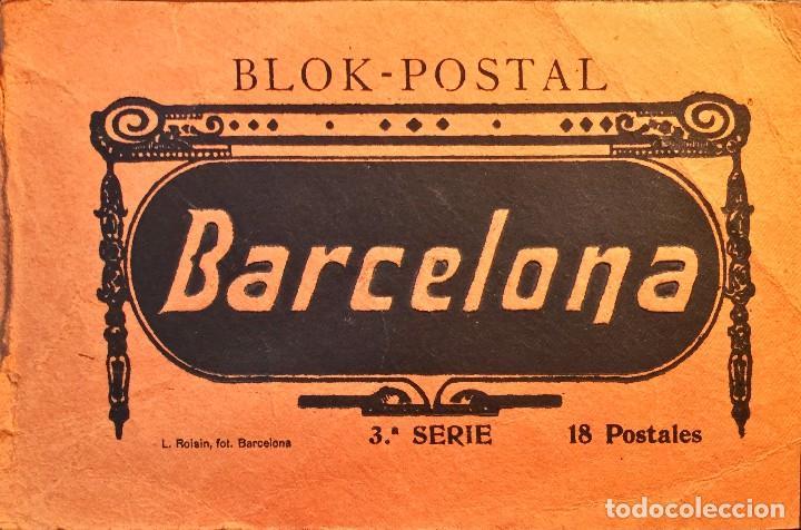 BLOCK DE POSTALES DE BARCELONA CAPITAL CON 16 POSTALES. (Postales - España - Cataluña Antigua (hasta 1939))