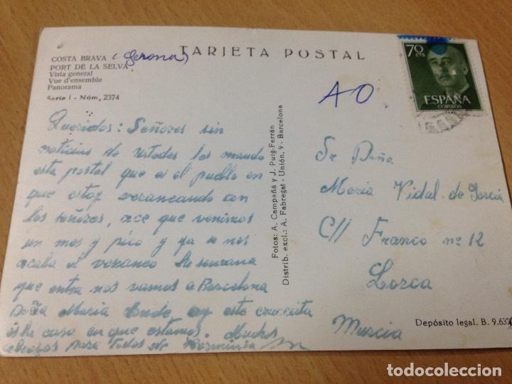 Postales: ANTIGUA POSTAL PORT DE LA SELVA GIRONA COSTA BRAVA - Foto 3 - 97159055