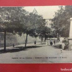Postales: PASSEIG DE LA IGLESIA. TORROELLA DE MONTGRI. Lote 97304007