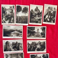 Postales: LOTE 10 POSTALES VISTAS PAISAJES MONSERRAT HUECOGRASADO MUMBRU BARCELONA SIN CIRCULAR . Lote 97323167