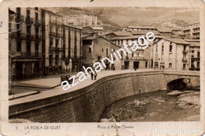 LA POBLA DE LILLET.-PLAZA DE ANGEL OSSORIO.NUM.5, FOTOGRAFICA (Postales - España - Cataluña Antigua (hasta 1939))