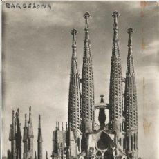 Postales: BARCELONA, TEMPLO DE LA SAGRADA FAMILIA - A.ZERKOWITZ - CIRCULADA SIN SELLO. Lote 97526003
