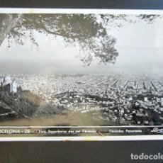 Postales: POSTAL BARCELONA. VISTA PANORÁMICA DEL TIBIDABO. ZERKOWITZ. CIRCULADA. REPÚBLICA ESPAÑOLA.. Lote 97688899