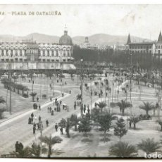 Postales: BARCELONA. 5. PLAZA DE CATALUÑA. EDICIÓN DE LLUIS BARTRINA EN BROMURO, LETRAS DORADAS, CIRCULADA. Lote 97821432
