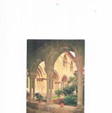 Postales: POSTAL ANTIGUA CATALUÑA TARRAGONA REAL MONASTERIO DE POBLET DETALLE CLAUSTRO LOCUTORIO. Lote 97864227