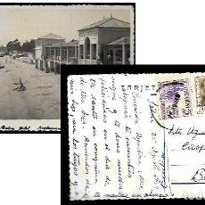 Postales: POSTAL * SALOU * BAÑOS HOTEL RESTAURANTE - AÑO 1949. Lote 98034147