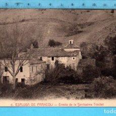 Postales: POSTAL ESPLUGA DE FRANCOLÍ ERMITA DE LA SANTISSIMA TRINIDAD Nº 6 EDITÓ L. ROISIN SIN CIRCULAR. Lote 98206619