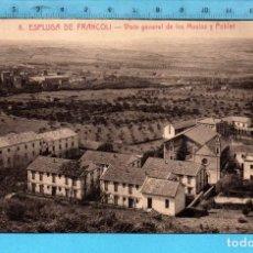 Postales: POSTAL ESPLUGA DE FRANCOLÍ VISTA DE LA MASÍAS Y POBLET Nº 8 EDITÓ L. ROISIN SIN CIRCULAR. Lote 98206771