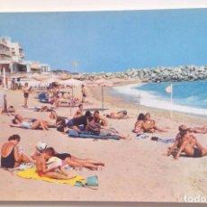 Postales: Nº 559 CALDETAS :PLAYA Y HOTEL COLON /ED: RO-FOTO. Lote 99359467