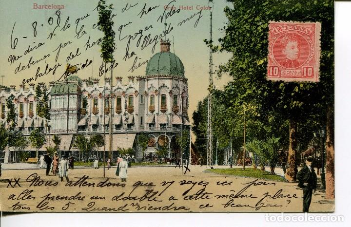 BARCELONA-GRAN HOTEL COLÓN- 1908 (Postales - España - Cataluña Antigua (hasta 1939))