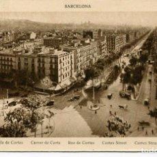 Postales: BARCELONA-CALLE DE CORTES-- ROISIN. Lote 99362639
