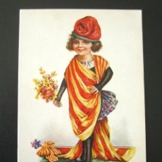 Postales: POSTAL PATRIÓTICA CATALUÑA. J. IBÁÑEZ. N. 654. EDICIONES VICTORIA N. COLL. SALIETI. BARCELONA, 1927.. Lote 99502131