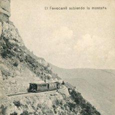 Postales: MONTSERRAT-EL FERROCARRIL SUBIENDO LA MONTAÑA- L. ROCA. Lote 99778271