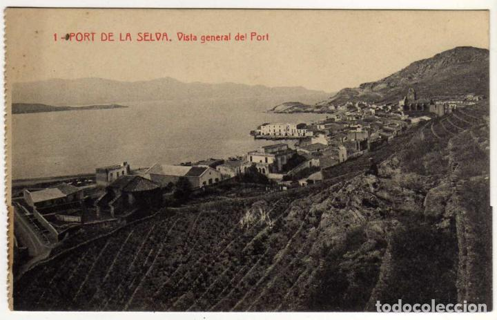 BONITA Y RARA POSTAL - PORT DE LA SELVA (GIRONA) - VISTA GENERAL DEL PORT (Postales - España - Cataluña Antigua (hasta 1939))