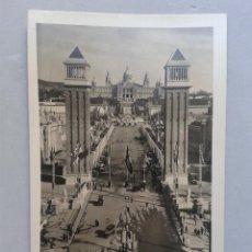 Postales: BARCELONA. PLAZA DE ESPAÑA. ANIMADA.. Lote 100234403