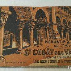 Postales: MONESTIR DE SANT CUGAT DEL VALLES - ROISIN - ALBUM POSTALES - EDICION ESPECIAL - COMPLETO. Lote 100239679