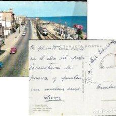 Postales: POSTAL * PREMIÁ DE MAR , VISTA PARCIAL , TREN CIRCULANT * 1962. Lote 100565495