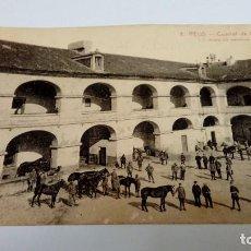 Postales: POSTAL ANTIGUA DE REUS CUARTEL DE CABALLERIA L. ROISIN, FOT. BARCELONA - LA FLECA REUS. Lote 100690923