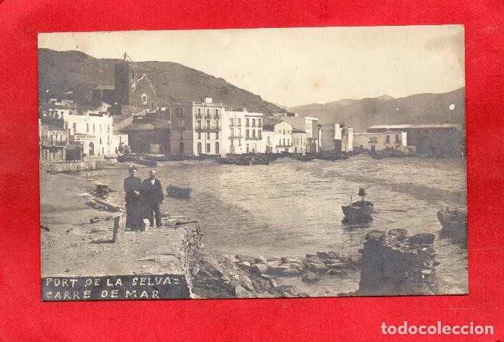 PORT DE LA SELVA.CARRE DE MAR. SELLO CARTERÍA. FOTOGRÁFICA (Postales - España - Cataluña Antigua (hasta 1939))
