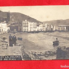 Postales: PORT DE LA SELVA.CARRE DE MAR. SELLO CARTERÍA. FOTOGRÁFICA. Lote 100710295