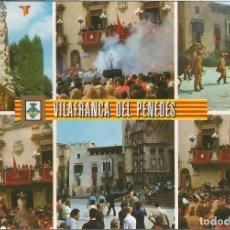 Postales: VILAFRANCA DEL PENEDES, FESTA TÍPICA - ESCUDO DE ORO Nº 1 - S/C. Lote 101488611