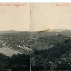 Postales: LLORET DE MAR- VISTA PANORÁMICA 2 POSTALES- Nº 31-32- SERIE E.M.P.-THOMAS-RARA. Lote 102419927