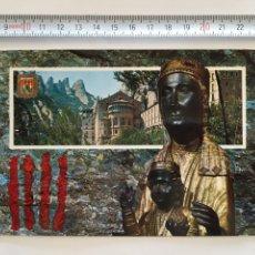 Postales: POSTAL. 40. MONTSERRAT. LA VERGE DE MONTSERRAT. ESCUDO DE ORO. H. 1960. Lote 102583338