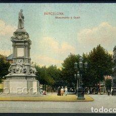 Postales: POSTAL BARCELONA MONUMENTO A GUELL . TRENKLER & CO . CA AÑO 1908. Lote 102720959