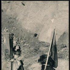 Postales: POSTAL BARCELONA MONTSERRAT PERROS DEL PASO NIVEL DE LA CARRETERA . ATV 313 . CA AÑO 1905. Lote 102721899