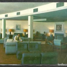 Postales: 2 - MATALASCAÑAS (HUELVA) HOTEL TIERRA-MAR. SALON SOCIAL - POST. SAN-PI 1975 -. Lote 102923827