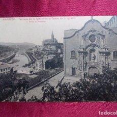 Postales: POSTAL. 11. MANRESA. FACHADA DE LA IGLESIA DE LA CUEVA DE S. IGNACIO. ROISIN. Lote 103161327