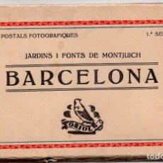 Postales: BARCELONA - JARDINS I FONTS DE MONTJUICH - 10 POSTALES FOTOGRÀFICAS - 1ª SERIE.. Lote 103161619