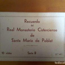 Postales: BLOCK DE SANTA MARÍA DE POBLET - SERIE B - 10 VISTAS (COMPLETO - 10 POSTALES). Lote 103201611