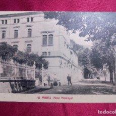 Postales: TARJETA POSTAL. RIBES. HOTEL MONTAGUT. Lote 103204231