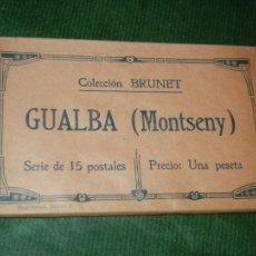 Postales: GUALBA (MONTSENY) - COLECCION BRUNET - SERIE DE 15 POSTALES - PAQUETE SIN ABRIR. Lote 103406059