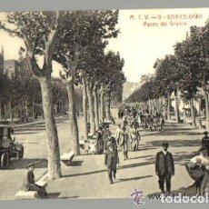 Postales: POSTAL ANTIGUA DE BARCELONA A.T.V. Nº 9 - PASEO DE GRACIA . Lote 103746427