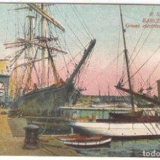 Postales: BARCELONA, GRUAS ELECTRICAS DEL PUERTO, R.S.A., SIN CIRCULAR. Lote 103858575