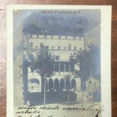 Postales: POSTAL FOTOGRÁFICA. MONTSERRAT. CLAUSTRO ANTIGUO. MASIA DE LA CREU. CIRCULADA EN 1907. . Lote 104124727