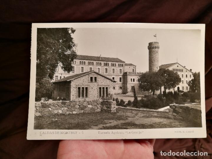 BARCELONA CALDAS DE MONTBUY ESCUELA AGRICOLA LA GRANJA. R. GASSO, FOT. POSTAL FOTOGRÁFICA (Postales - España - Cataluña Moderna (desde 1940))