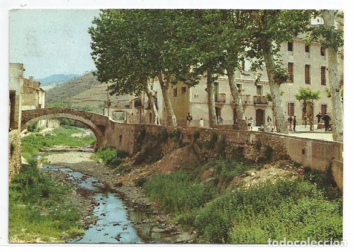 PORRERA .- PUENTE VIEJO .- Nº 2 VISTACROM JOSÉ ASENS .- CIRCULADA (Postales - España - Cataluña Moderna (desde 1940))