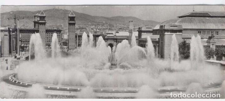 BARCELONA Nº 1.018. SURTIDORES DE MONTJUICH. ALARGADA (Postales - España - Cataluña Moderna (desde 1940))
