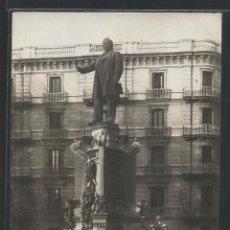 Postales: BARCELONA - MONUMENTO A JOSEP ANSELM CLAVÉ - RAMBLA CATALUNYA - P23870. Lote 104705647