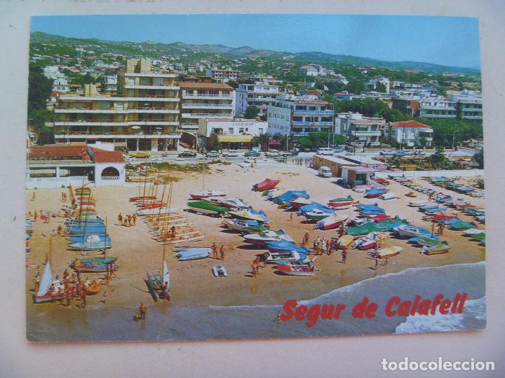POSTAL DE TARRAGONA , COSTA DORADA : SEGUR DE CALAFELL , AÑOS 60 (Postales - España - Cataluña Moderna (desde 1940))