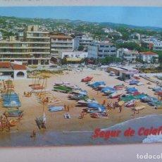 Postales: POSTAL DE TARRAGONA , COSTA DORADA : SEGUR DE CALAFELL , AÑOS 60. Lote 104922419