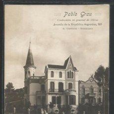 Postales: BARCELONA - SANT GERVASI - PABLO GRAU - CONTRATISTA DE OBRAS - P23921. Lote 105254855
